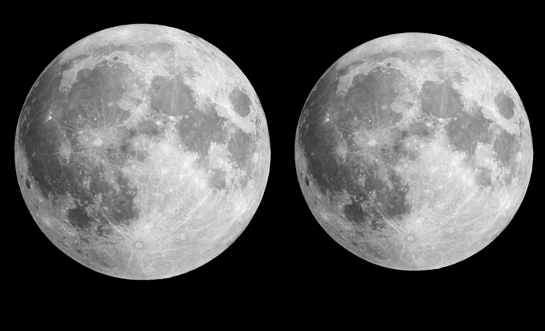 A true to life representation of the supermoon size vs the average full moon