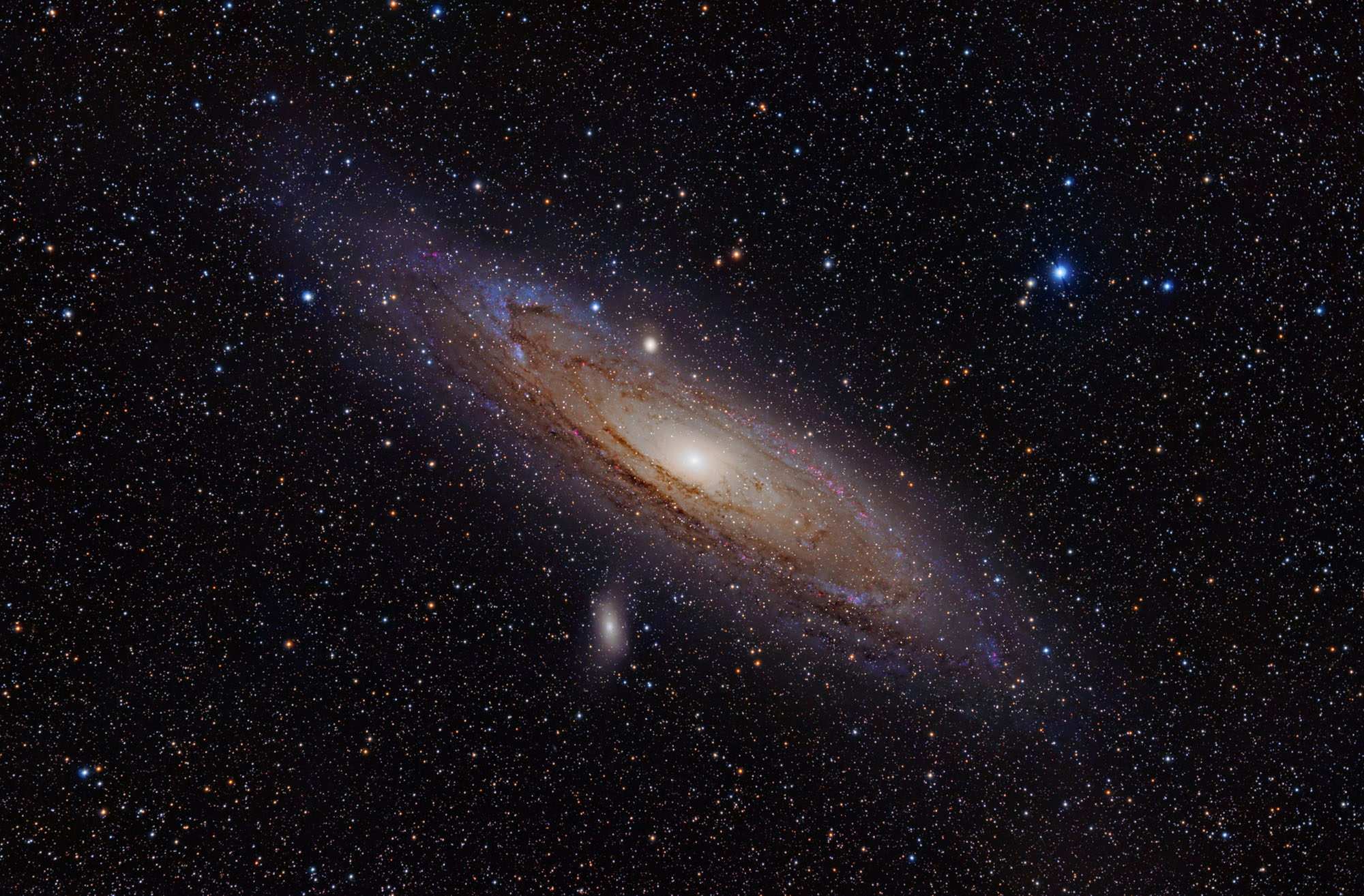 Our nearest galactic neighbour, The Andromeda Galaxy, 2.5 million light years away