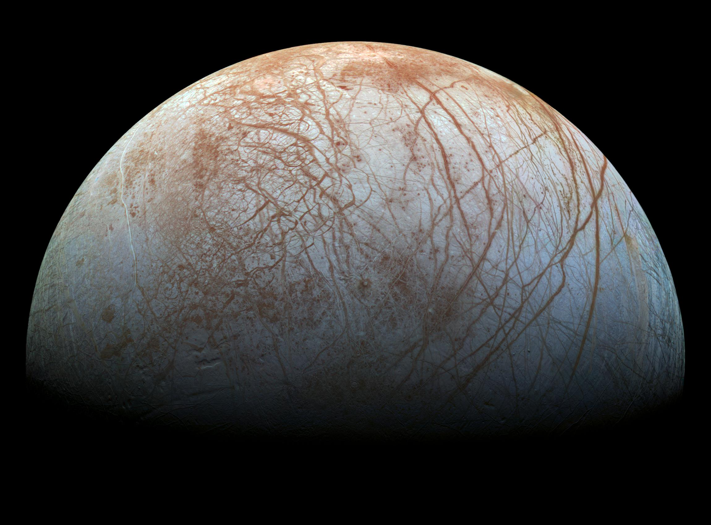Europa, one of the four Galilean moons of Jupiter. Does it hold life?