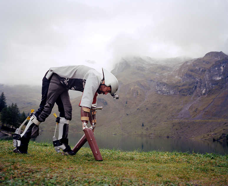An Ig Nobel prize winner, Thomas Thwaites in his Goat Suit.