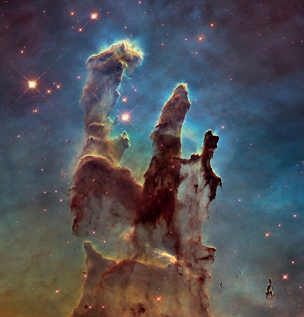 "Hubble's Iconic ""Pillars of Creation"" image."