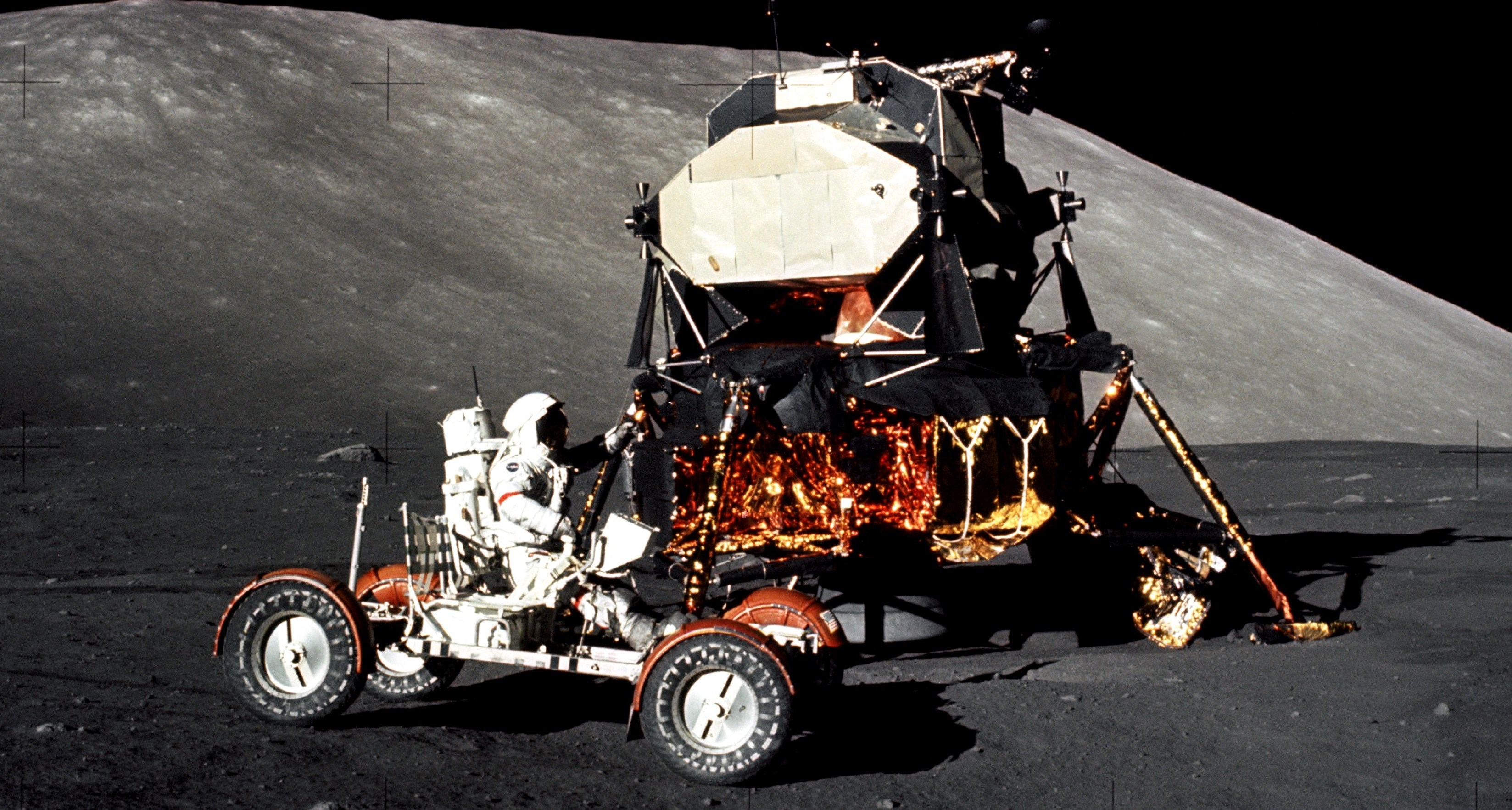 The Lunar Rover and Lander taken in 1972. When will we see man on the moon again?