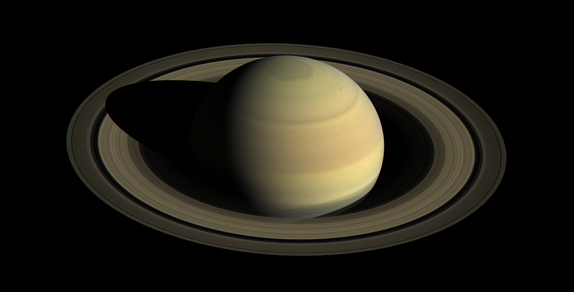An Iconic Saturn image from the Cassini mission