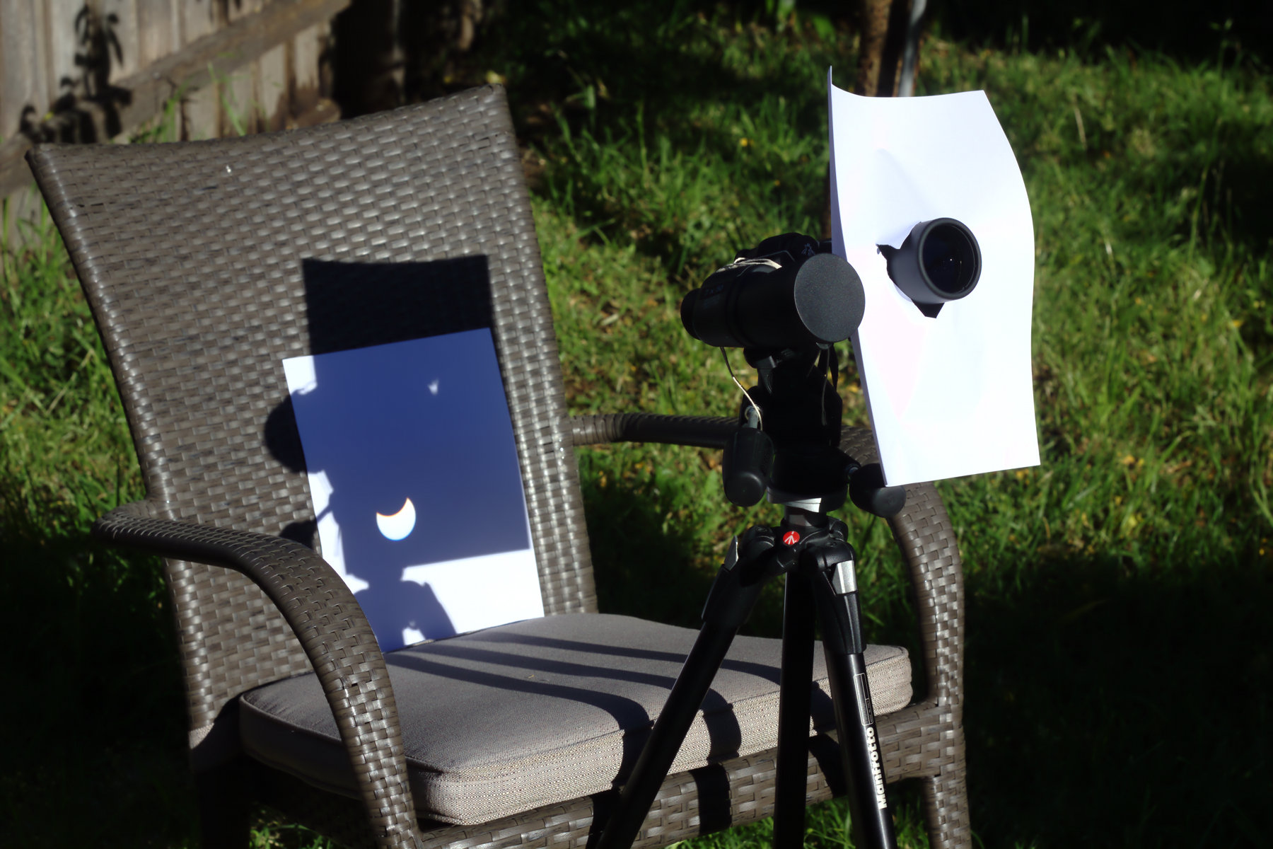 solar projection using a telescope is one way to observe the eclipse safely.