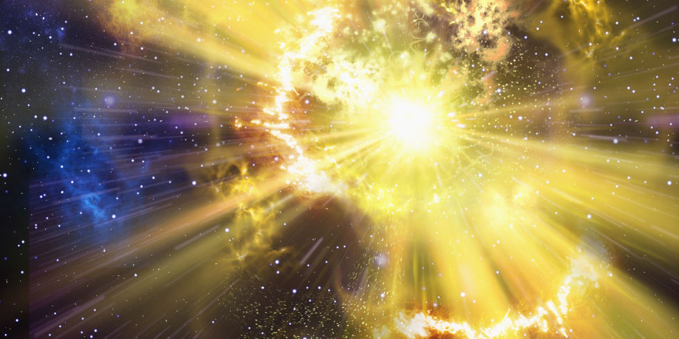 The immense power of a supernova makes gold amongst other elements.